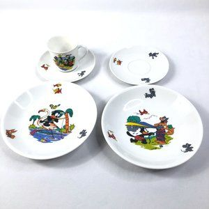 Rare VTG Felix The Cat Winterling China Dish Set